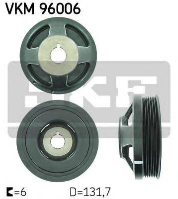VKM96006 Шкив коленвала CHEVROLET AVEO 1.2/1.4