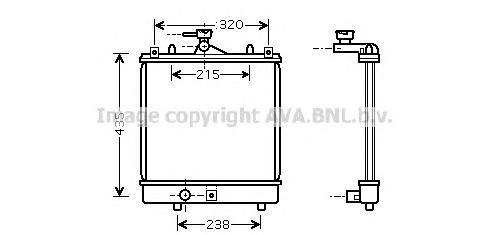 SZA2061 Радиатор системы охлаждения SUZUKI: IGNIS I 1.3 00-03