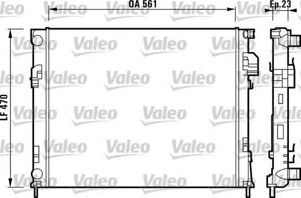 732853 Радиатор RENAULT TRAFIC II 2.0/1.9D M/T 01-