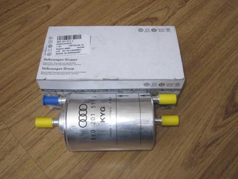 8E0201511J Фильтр топливный, бензин / AUDI 01 ~