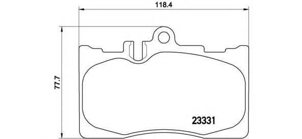 P83058 К-т торм. колодок Fr LEX LS 00-06