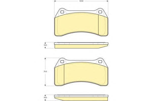 6115129 Колодки тормозные JAGUAR XJ R 4.2 03-09 передние