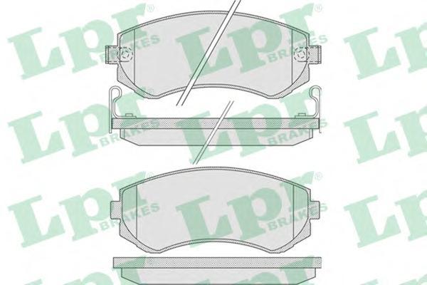 05P856 Колодки тормозные NISSAN ALMERA N15 97-00 передние/PATROL 97-10 задние