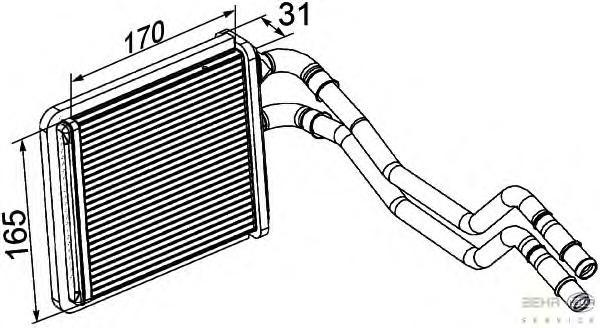 8FH351315591 Радиатор отопителя FORD: FIESTA VI 1.25/1.4/1.4 LPG/1.4 TDCI/1.6 TDCI/1.6 TI 08-, FIESTA VAN 1.25/1.4 TDCI/1.6 TDCI