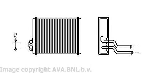 VOA6084 Радиатор отопителя VOLVO 400/460/480 1.6-2.0/1.9TD 88-96