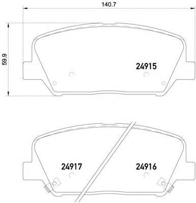 """P30065 Колодки тормозные HYUNDAI i30/ELANTRA 11-/CEED R16"""" 12- передние"""