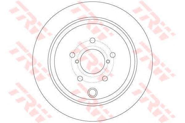 DF6306 Диск тормозной SUBARU FORESTER 05-/IMPREZA 08-/LEGACY 07-/OUTBACK 08- задний