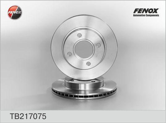 TB217075 Диск тормозной FORD ESCORT 90-99/FIESTA 89-02/MAZDA 121 96- передний вент.
