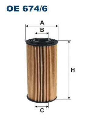 OE6746 Фильтр масляный KIA SORENTO/SPORTAGE/HYUNDAI IX35 10- 2.0/2.2 CRDI 09-