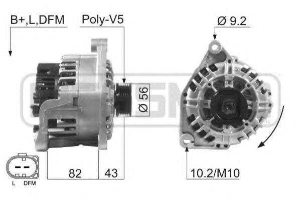 210601 Генератор AUDI A4/A6/SKODA/PASSAT 1.6-2.0 -05 70A