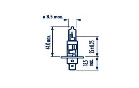 48702 Лампа H1 24V 70W NARVA