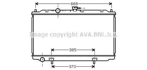 DN2215 Радиатор системы охлаждения NISSAN: ALMERA II (N16) 1.5/1.8 00 - , ALMERA II Hatchback (N16) 1.5/1.8 00 - , PRIMERA (P12)