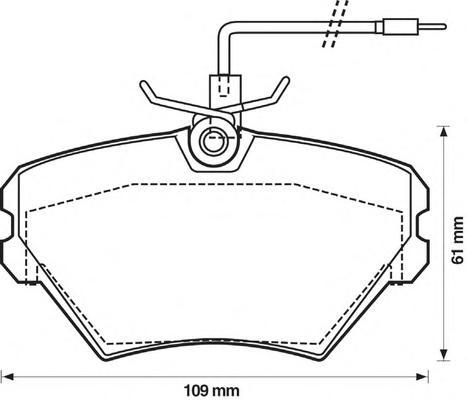 571550J Колодки тормозные RENAULT LAGUNA 1.8/2.2D 93-01 передние