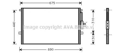 je5018 Радиатор кондиционера JEEP: CHEROKEE (XJ) 2.1 TD/2.5/2.5 TD/2.5 i/2.5 i 4x4/4.0 i 84 -