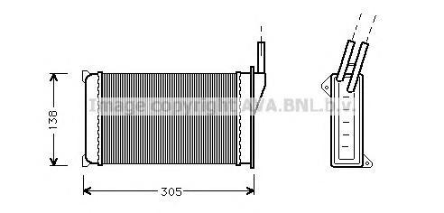 FD6093 Радиатор отопителя FORD ESCORT 1.1-1.6/1.6D/1.8D 81-90