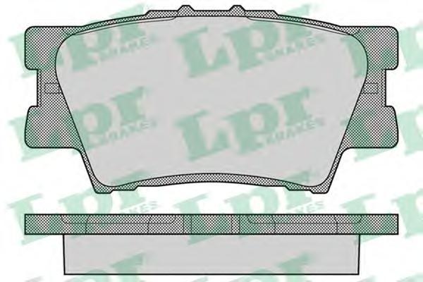 05P1281 Колодки тормозные TOYOTA RAV 4 06/CAMRY 2.4/3.5 06 задние