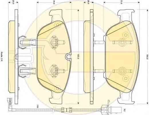 6118972 Колодки тормозные AUDI A6 11-/A7 10- (1LL) передние