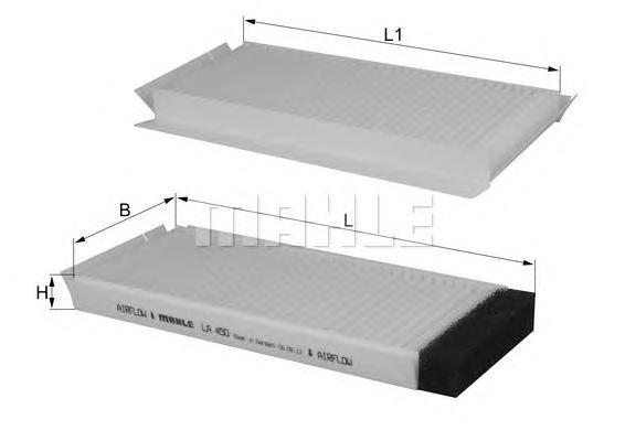 LA450S Фильтр салона к-кт MAZDA: DEMIO 1.3 16V/1.5 16V 98-