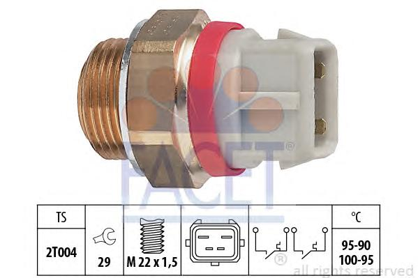 75682 Датчик включения вентилятора FORD: ESCORT '91 Courrier (AVL) 1.8 D 90-94, ESCORT '91 Express (AVL) 1.8 D 90-94, ESCORT '95