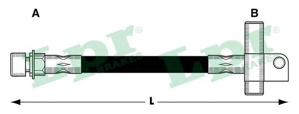 6T46211 Шланг тормозной FORD TRANSIT 85-92 задний 420мм