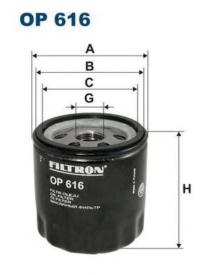 OP616 Фильтр масляный SKODA FABIA/FELICIA/OCTAVIA/VW GOLF 3/4/5/POLO 1.0-1.6