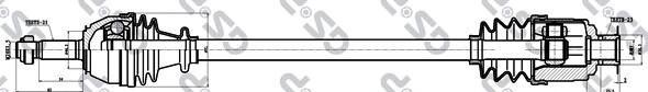250037 Привод в сборе RENAULT 19 1.4-1.8 88-96 прав. JB4/5
