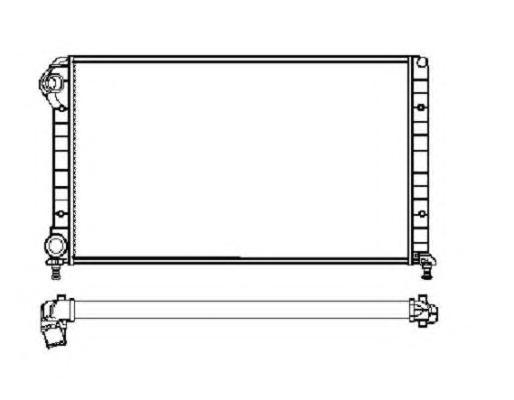 53627 Радиатор Fiat Doblo (+AC) МКПП 01-