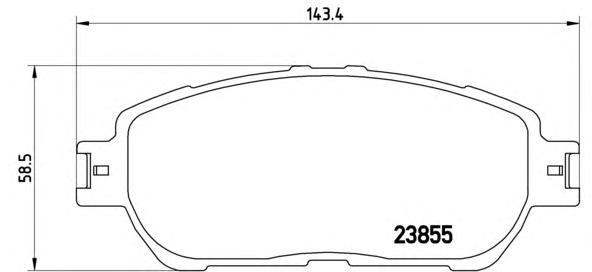 P83105 Колодки тормозные TOYOTA CAMRY (V30) 01-06 передние