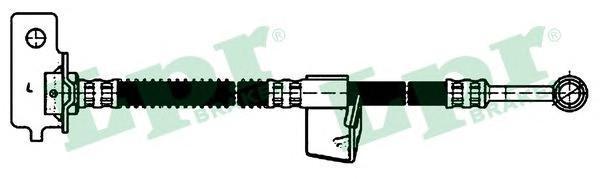 6T48154 Шланг тормозной HYUNDAI GETZ 02- передний левый L=480мм.