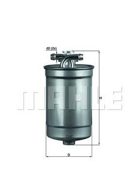 KL554D Фильтр топливный AUDI A4/A6 2.0-3.0TDI