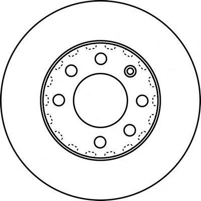 562226J Диск тормозной AUDI A2 1.2TDI 01-05/VW LUPO 1.2TDI/1.4TDI 99-05 передний
