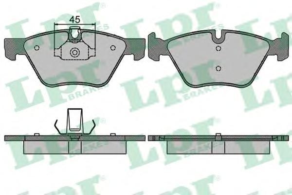 05P1512 Колодки тормозные BMW E90/E60 1.8-3.0 03- передние