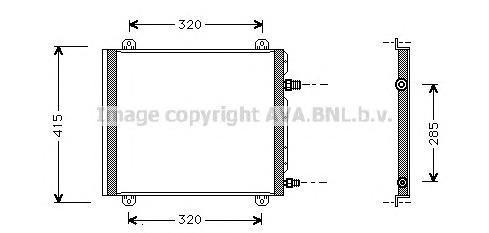 RT5235 Конденсер RENAULT TWINGO 1.2 96-