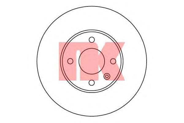 205019 Диск тормозной CHEVROLET AVEO 11-/COBALT 11- передний вент.D=256mm