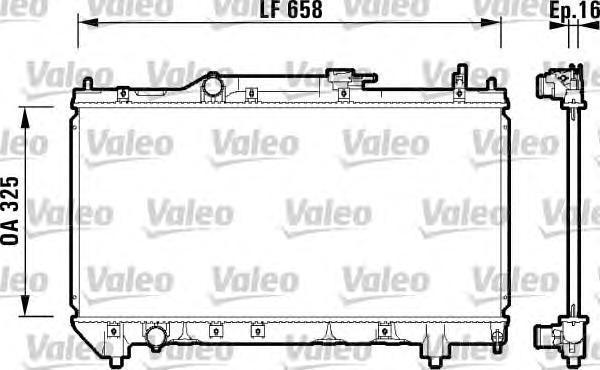 732950 Радиатор двигателя TOYOTA Avensis 1,6/1,8 [M] 9/97-10/00