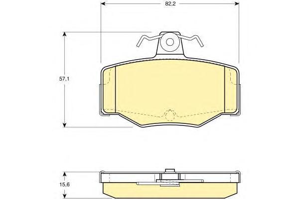 6130921 Колодки тормозные NISSAN ALMERA 00/PRIMERA 9002 задние