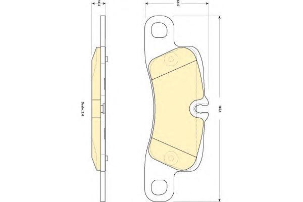 6118399 Колодки тормозные PORSCHE CAYENNE 4.5-4.8 (2EH) 06- передние