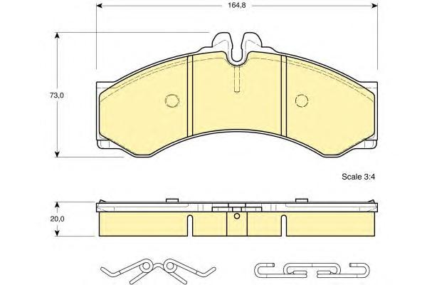 6112889 Колодки тормозные MERCEDES SPRINTER (901-904) 95-06/VW LT 28-46 96-06 пер./зад.