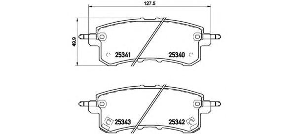 P56082 Колодки тормозные NISSAN PATROL (Y62)/ INFINITI QX56 10- задние