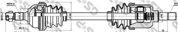 210163 Привод в сборе CITROEN BERLINGO I/ZX/PEUGEOT PARTNER 1.9TD-2.0 91- лев.