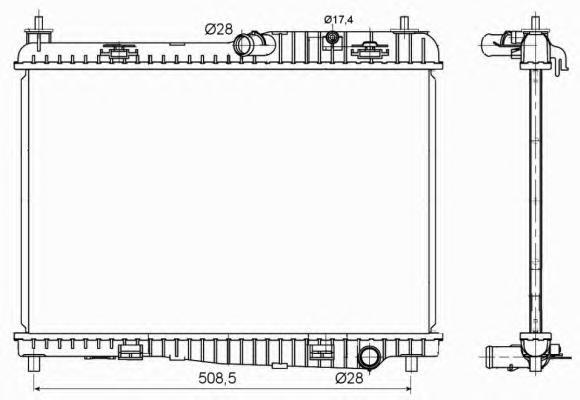 53152 Радиатор FO Fiesta 08-