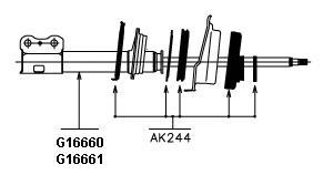 G16661 АМОPТИЗАТОP ПОДВЕСКИ