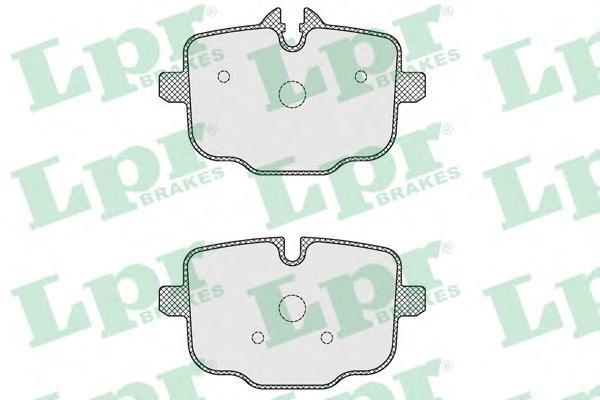 05P1631 Колодки тормозные BMW 5 F10/F11 3.0-4.4 10- задние