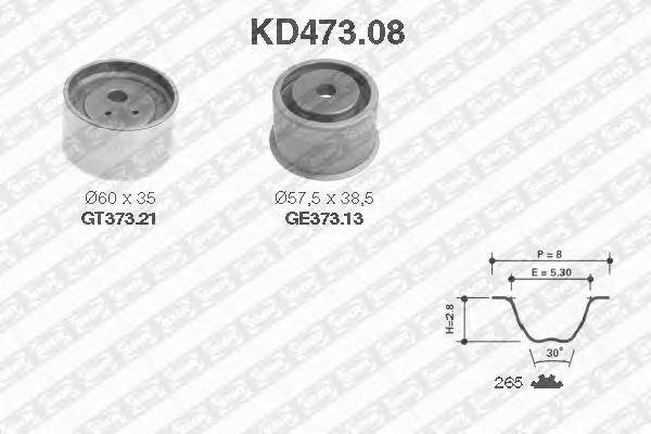 KD47308 Комплект ремня ГРМ MITSUBISHI PAJERO 3.5 94-