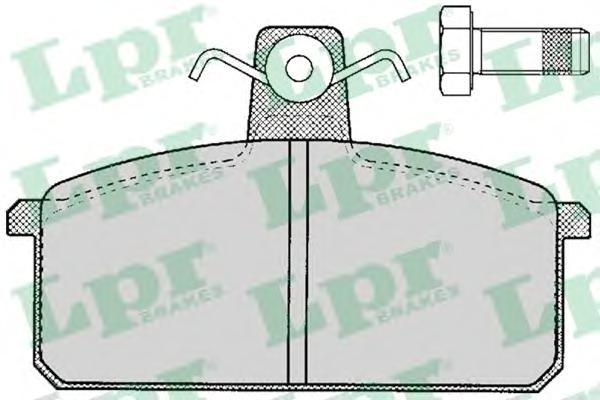 05p107 Комплект тормозных колодок, дисковый тормоз
