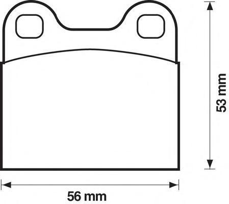 571205b Комплект тормозных колодок, дисковый тормоз
