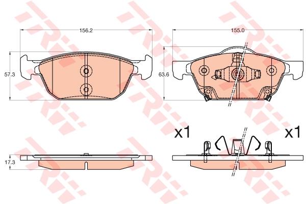 GDB3600 Колодки тормозные HONDA CIVIC 12- передние