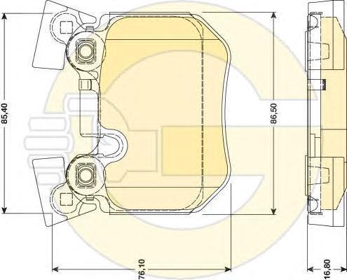 6117959 Колодки тормозные BMW E81/E82/E87/E88/E90/E91/E93 спорт.пакет задние