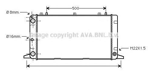 AI2098 Радиатор AUDI 80 2.0-2.6 92-99