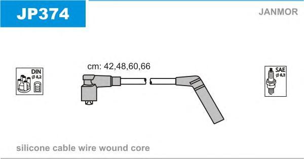 JP374 Комплект проводов зажигания MITSUBISHI: COLT V 95-05